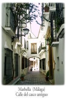 Calle de Marbella. Casco antiguo de Marbella. Málaga